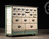 Early 20th Century Chippy Apothecary Cabinet