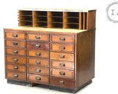C. 1920 Eighteen Drawer Apothecary Clerical Desk