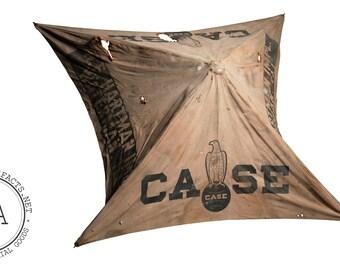 Antique J. I. Case Co. Advertising Umbrella