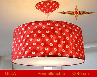 Red hanging lamp dotted ULLA Ø45 cm pendant lamp with diffuser