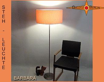 Floor lamp apricot BARBARA light salmon colored floor light