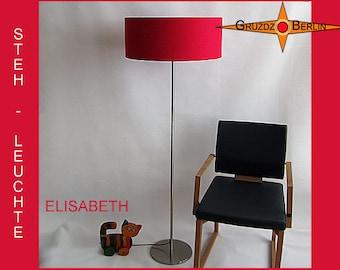 Floor lamp red silk ELISABETH red floor light