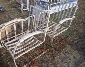 Metal patio furniture | Etsy