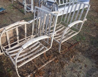 Metal Patio Furniture   Etsy
