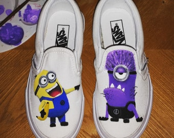 4c577ee377 Custom Hand Painted Minion Inspired Toddler Kids VANS