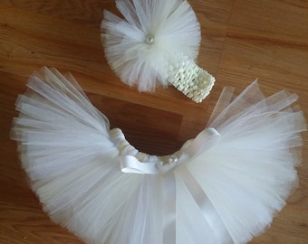 Infant Ivory and White Tutu, Up to 9 months