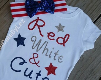 4th of July Red, White & Cute shirt