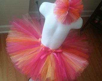 Pink, Orange, Yellow and Coral Tutu