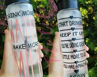 Drink More Water Make More Milk Motivational Water Bottle, Water Tracker Water Bottle, Breastfeeding Mom Water Bottle, New Mom Gift