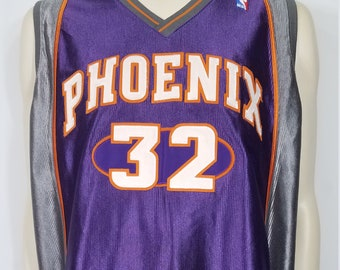 Authentic Vintage Champion Phoenix Suns Jason Kidd  32 purple gray  basketball jersey mens size 52 XXL 6971df878