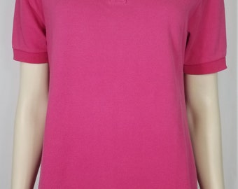 302fe05b Izod-Lacoste pink casual short sleeve cotton polo shirt ladies Medium