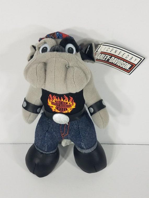 bdfbfe76126 NWT Harley-Davidson gray biker bulldog 8 inch stuffed plush