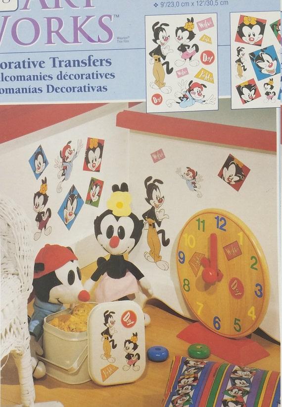 NIP Springs Art Works Animaniacs decorative transfers Yakko Wakko Dot Sealed
