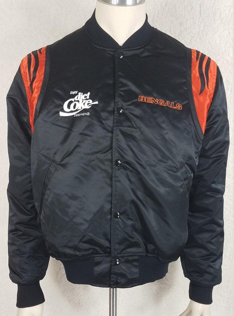 914ec751 Starter NFL Pro Line black Cincinnati Bengals Diet coke embroidered bomber  jacket adults Large