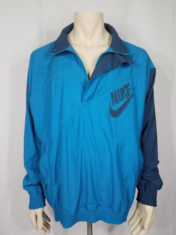 3a1194bb6efd Vintage Nike Sport Classics teal blue 1 4 zip windbreaker
