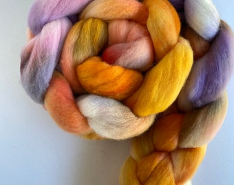 4 oz Underground River on Hand Dyed Falkland Wool Combed Top