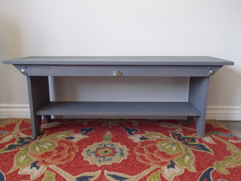 DesignersShowcase Exclusive Wood Buttons Ca Hand rubbed Gray wi Distressing LOCAL Pick-up Only Oceanside STORAGE BENCH Clear Pine