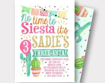 Fiesta Birthday Invitation Spanish