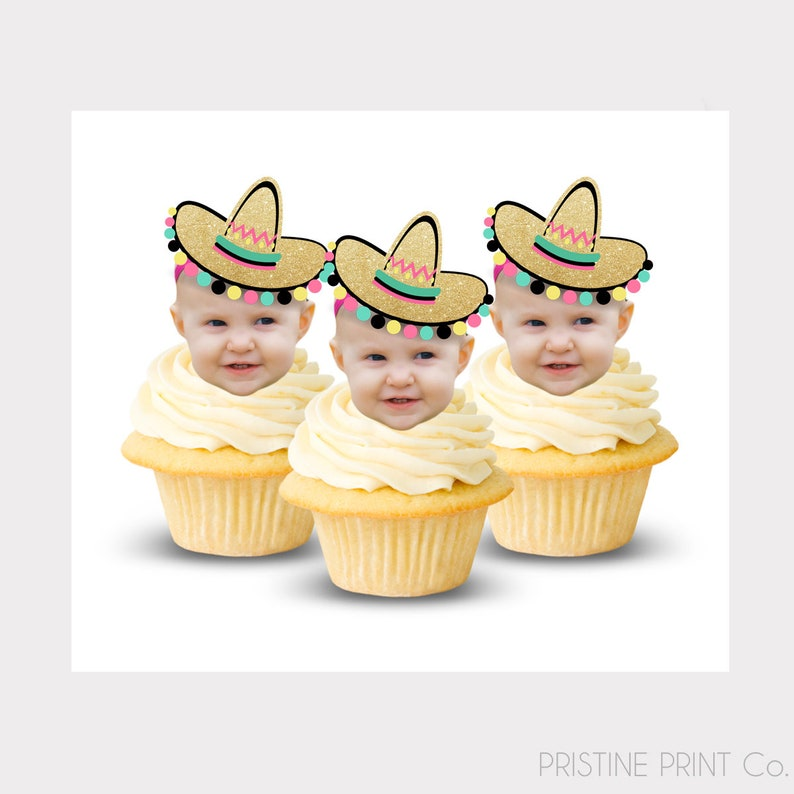 Fiesta Cupcake Toppers  Mexican Cupcake Toppers  Fiesta image 0