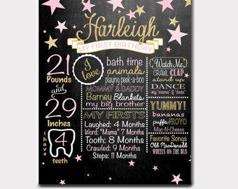 Little Star Birthday Chalkboard