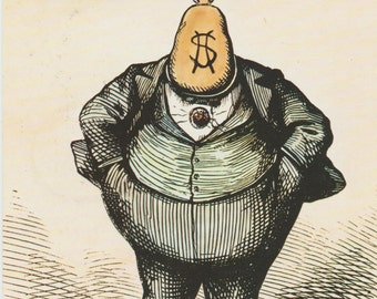 Boss Tweed Vintage Fact And Information Trade Card 1823-1878 William Marcy Tweed US Congress  Politics Corrupt  New York Politician