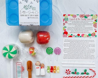 Legend of the Candy Cane Playdoh Kit, Christmas Sensory Kit, Holiday Playdough Kit, Candy Playdough Kit, Candy Cane Playdoh, Winter Playdoh