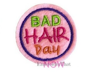 INSTANT DOWNLOAD Bad Hair Day Feltie Embroidery Design File
