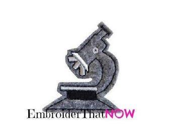 INSTANT DOWNLOAD Microscope Feltie Embroidery Design File