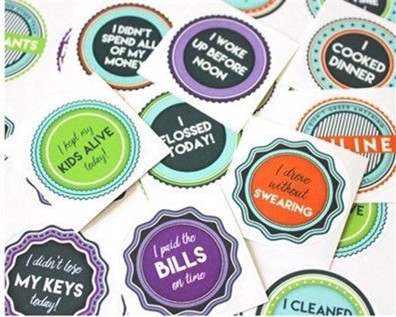What Kids Need From Grown Ups But Arent >> Adulting Reward Stickers For Grown Ups Etsy