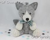 Wolf Pattern, Amigurumi Pattern, Crochet Stuffed Wolf, Crochet Wolf Pattern, Wolf Stuffed Animal Pattern