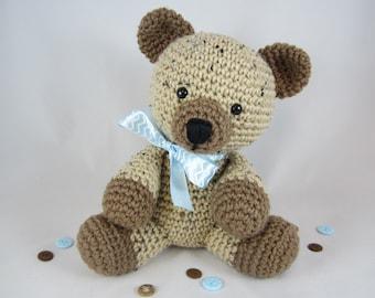 Crochet Teddy Bear, Crochet Stuffed Teddy Bear, Stuffed Animal Bear, Amigurumi Bear by CROriginals