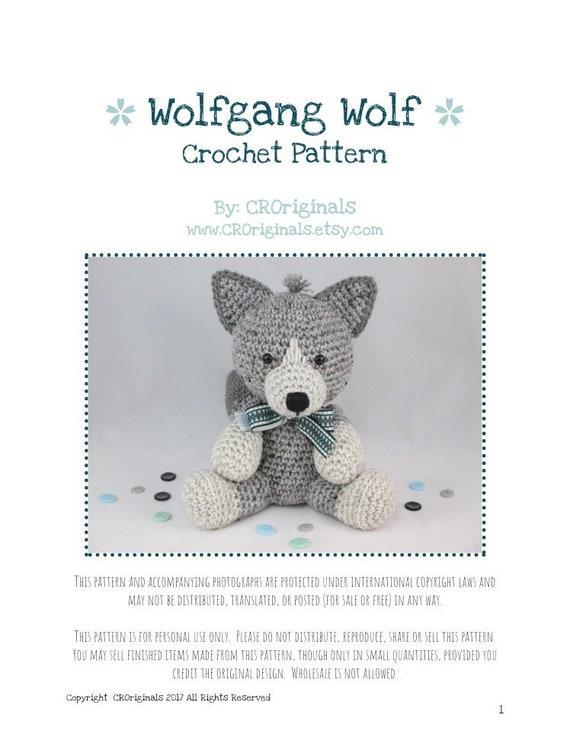 Boris the Wolf amigurumi pattern - Amigurumipatterns.net | 747x570