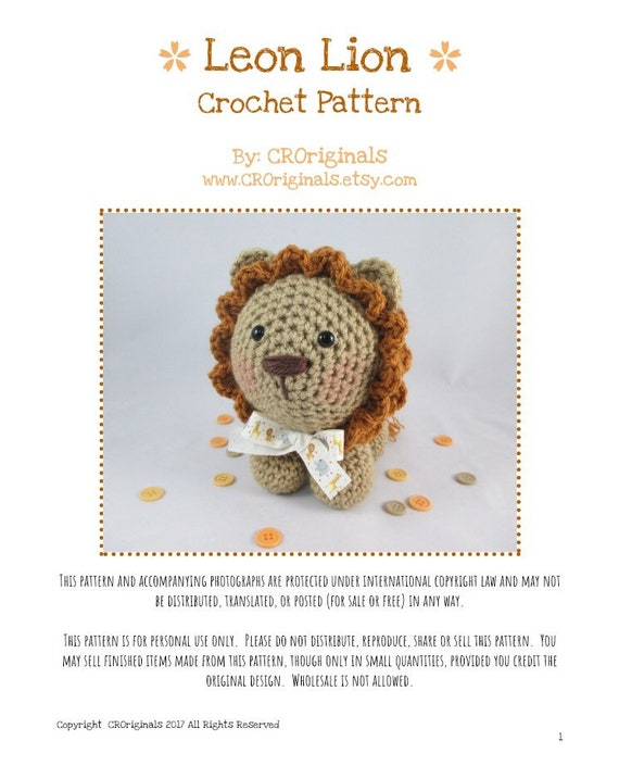 Best Lion Crochet Patterns – Amigurumi Tips - A More Crafty Life | 705x570