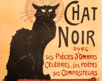 Tour you Chat Noir poster art print retro 50 x 70 cm