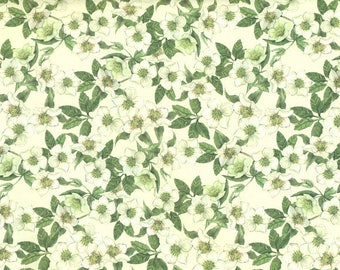 Wild Roses White wrapping paper