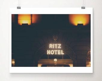 london photograph london print ritz hotel photograph london decor night photograph architecture photograph travel photography
