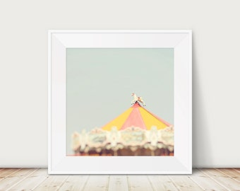 carousel photography carousel print carousel art carnival photograph carnival print carnival art seaside photograph fair photograph