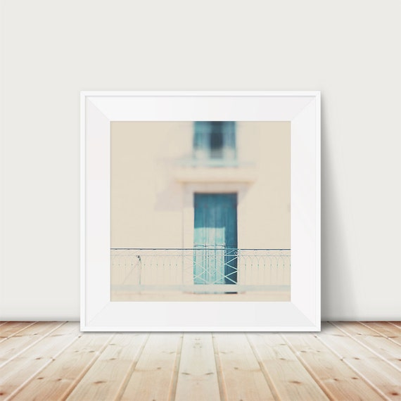 Teal Shutters: Teal Shutter Photograph Balcony Photograph French Decor