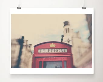 red telephone box photograph London photograph London print London decor English decor England photograph travel photography