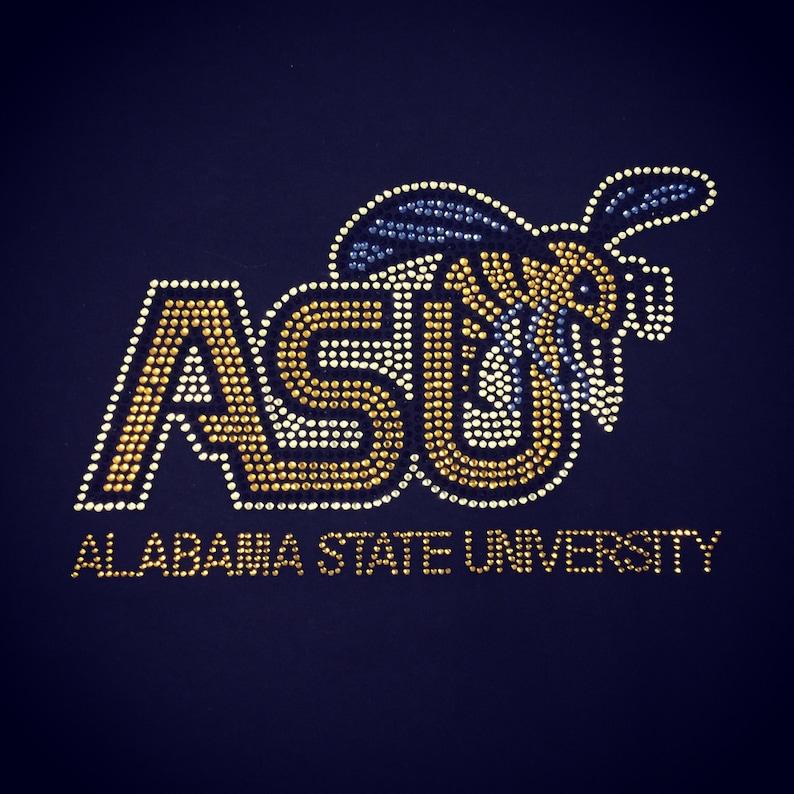 ASU Alabama State University Hornets Rhinestone Heat Transfer  e660665fdbc0