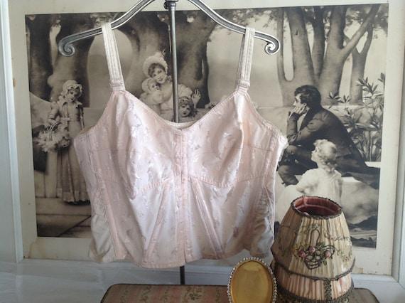 Wonderful 1940's pink boudoir bra corset