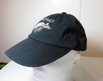 Sea Turtle Honu embroidered hat. Low profile, unstructured