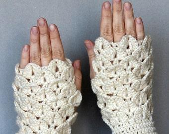 Crochet Fingerless Gloves, Gift Ideas, Gloves & Mittens, For Her,Winter Accessories