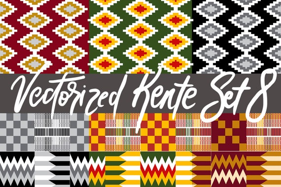 KENTE African Fabric Patterns (Vectorized) 8
