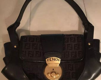 aeefff6e129 ... zucca hobo bag in brown lyst 9a8e7 7d336 hot authentic vintage fendi  black borsa tuc shoulder handbag purse b7598 e0d12