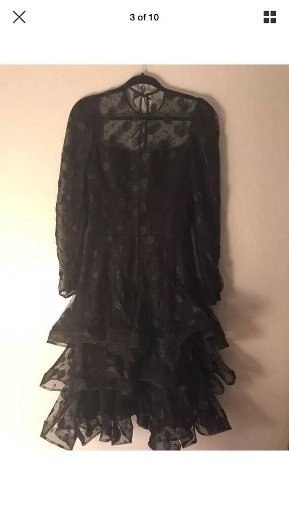 1980's Scaasi Boutique Black Vintage Dress size 8 - image 4
