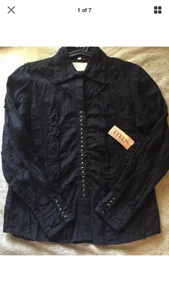 Scully Snap Down Top size med. NWT