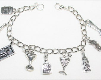 Beer Jewelry Stainless Steel Bracelet Alcohol Gift Bar Booze Personalized Bartender Bracelet Expandable Bangle Bracelet Bottle Opener