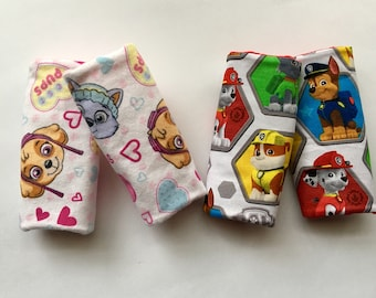 Paw Patrol Car Seat Strap Covers Minky Accessory Skye Rumble Chase Marshall