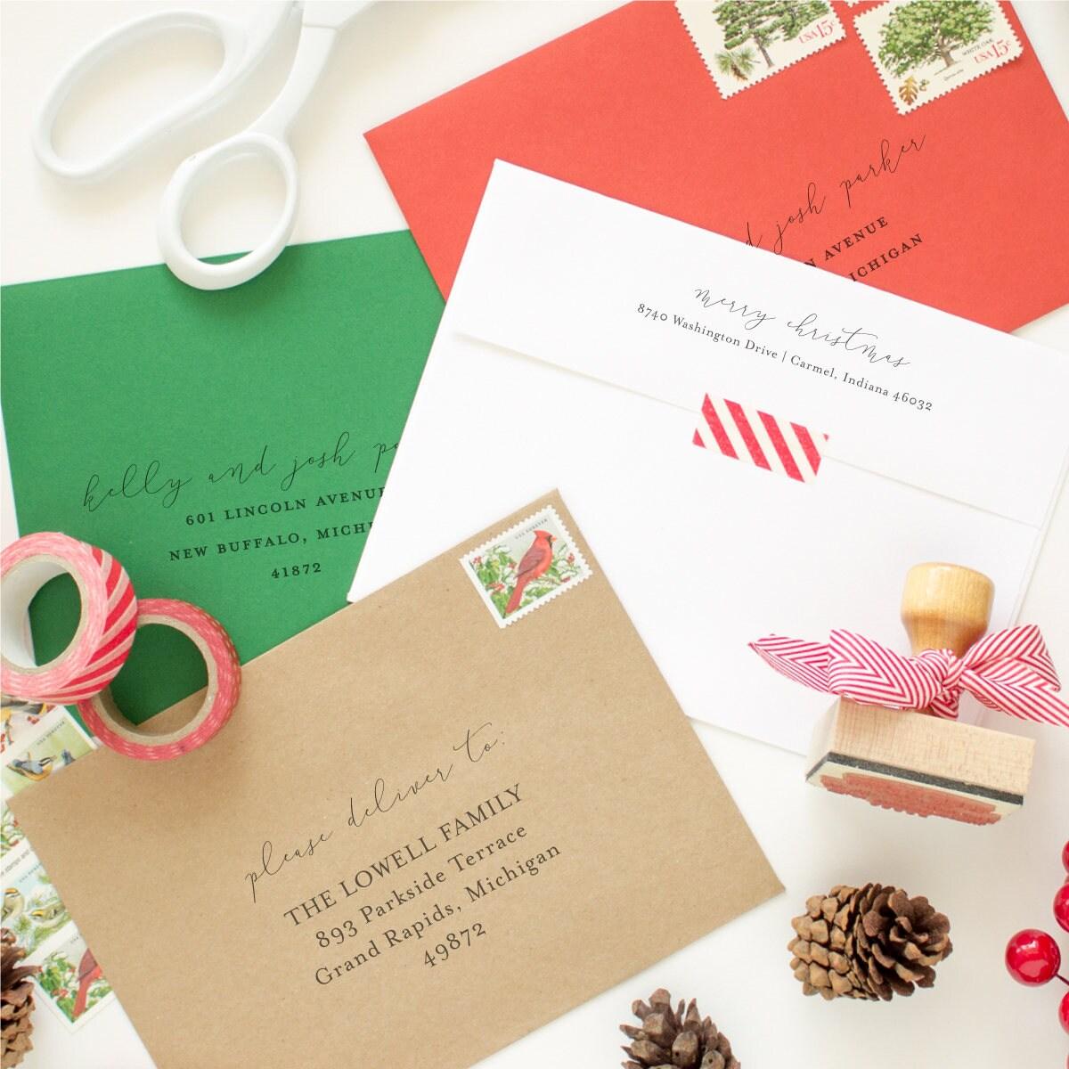 return address and mailing address printing for your christmas cards - Mailing Christmas Cards